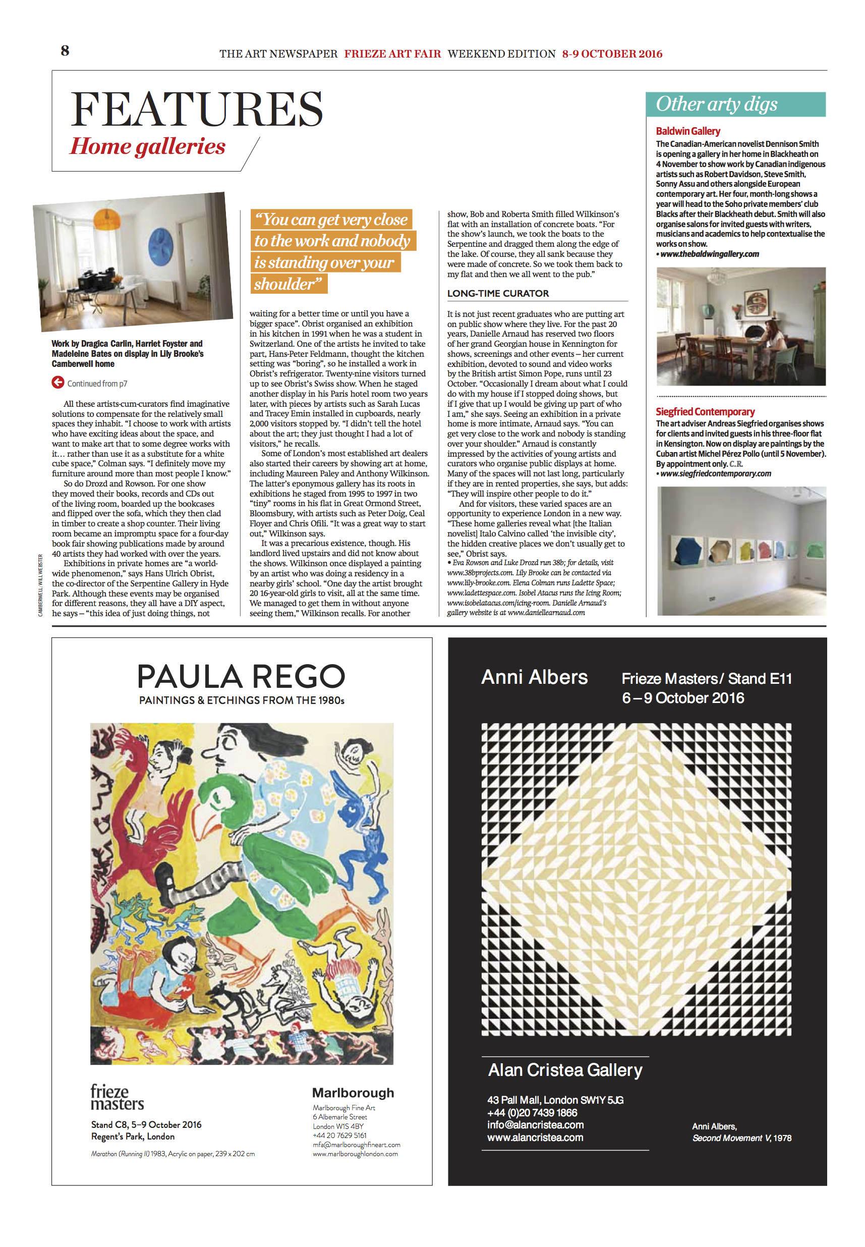 The Art Newspaper_The Baldwin Gallery_ Home is Where the Art is 2